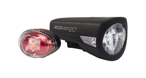 CatEye Econom 20 fietsverlichting HL-EL345G + TL-LD611G zwart